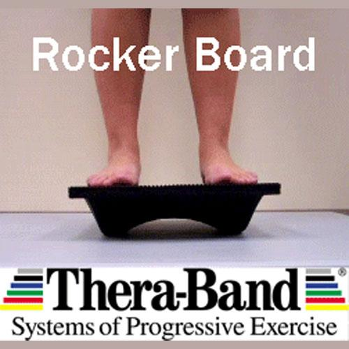 Stand with both feet perpendicular to Rocker bottoms